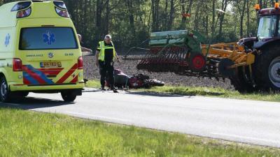 Motorrijder omgekomen bij ongeval met tractor
