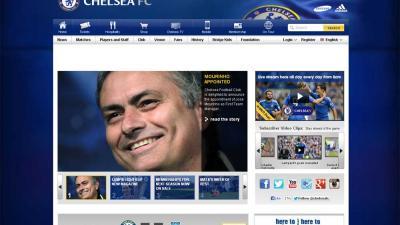 Screenshot website Chelsea Mourinho   Website Chelsea
