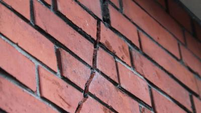 Foto van scheur in muur | MV