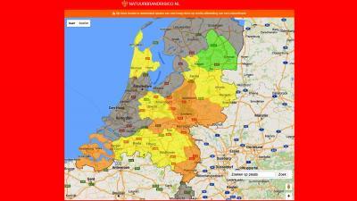 Code Oranje in delen van Nederland vanwege brandgevaar