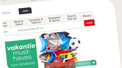 Screenshot website Neckermann | BON