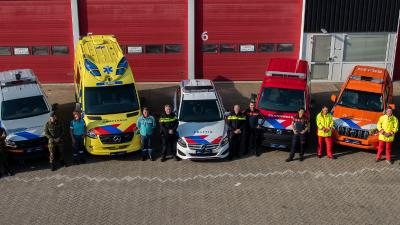 Vernieuwde striping voertuigen hulpverleningsdiensten