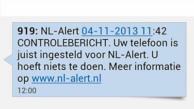 Foto van landelijke NL-Alert   Archief EHF