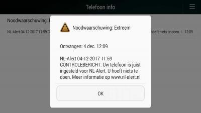 Heb jij hem ook gekregen het landelijk controlebericht NL-Alert?