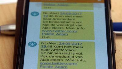 Onderzoek naar paardenmiddel NL-Alert tijdens Europa league-finale Amsterdam