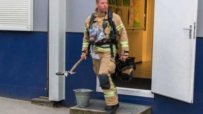 Brandje in noodgebouw school Vlaardingen