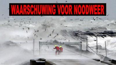 Rijkswaterstaat en KNMI waarschuwen voor storm langs de kust en winterse neerslag