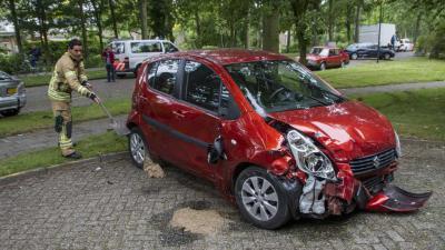 Ravage na mogelijk automobilist onwel Vlaardingen