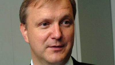 Foot van Europees commissariss Olli Rehn   EU