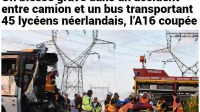 16 Nederlandse scholieren lichtgewond bij busongeluk in Frankrijk