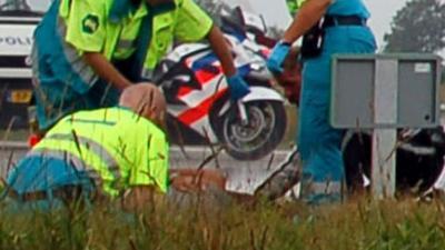 Motorrijder overleden op de A7Middenmeer -