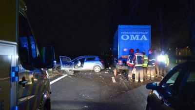 Ravage N33 na ongeval bij Veendam