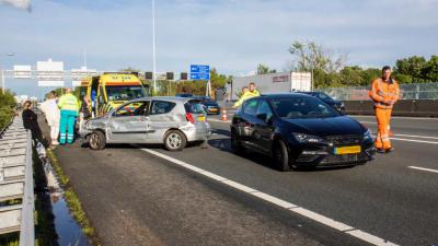 A20 lange tijd dicht na ongeval