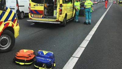 Vier gewonden bij eenzijdig ongeval op A58