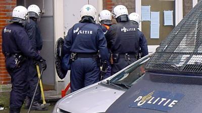 Ontruiming politie-BlikopNieuws