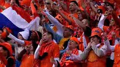 Foto van Oranje supporters | Archief EHF