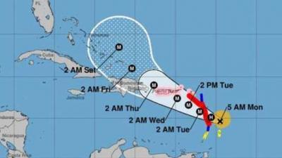 Orkaan Irma stormt af op Bovenwindse Eilanden