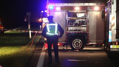 Foto van politie OVD bij ongeval in donker | Archief EHF