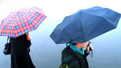 Foto van paraplu regen | Archief EHF