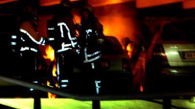 Grote brand in Heerlense parkeergarage,12 auto's uitgebrand