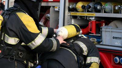 perslucht-brandweerman