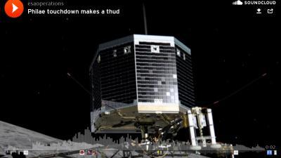 ESA zet geluid landing op komeet online