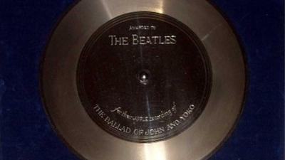 Foto van platina plaat Beatles | Catawiki