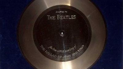 Foto van platina plaat Beatles   Catawiki