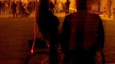 Foto van politie agent in donker | Archief EHF