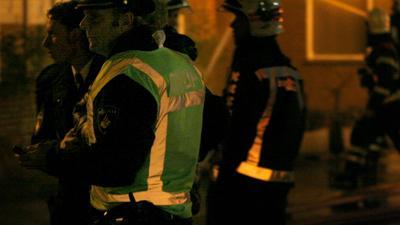 Foto van politie bij brand | Archief EHF
