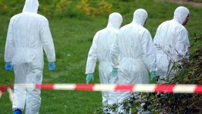 Foto van forensisch onderzoek   Archief EHF