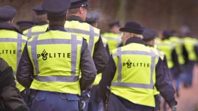 Foto van politie in gele hesjes | Archief EHF