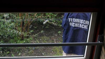 Foto van recherche van politie tijdens onderzoek | Archief EHF