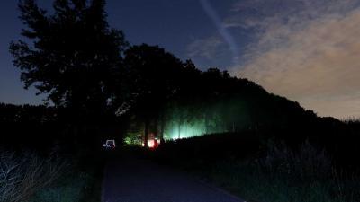 politie-zoeklicht-bos