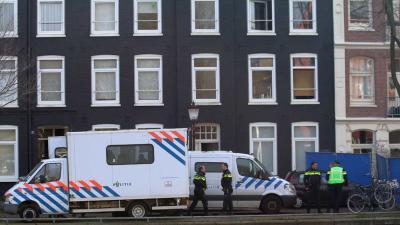 Grote politieactie gaande Houtmankade Amsterdam