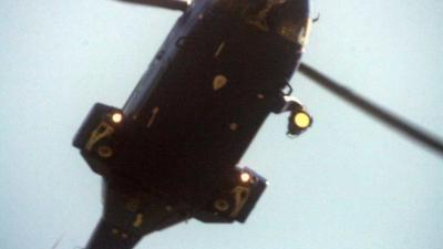 Kinderen beschijnen politiehelikopter met laser in IJmuiden
