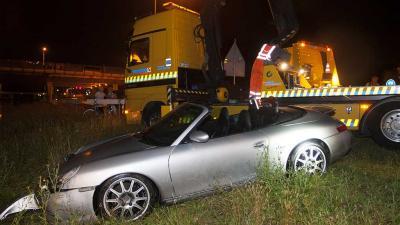 Foto van Porsche cabrio te water | Sander van Gils | www.persburosandervangils.nl