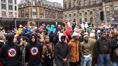 Foto van protest Zwarte Piet | BON