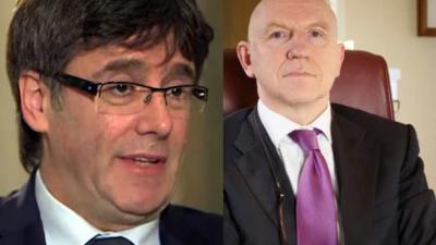 Ontslagen Catalaanse minister-president Carles Puigdemont is in Brussel voor hulp