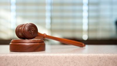 Foto van Hamer rechtbank