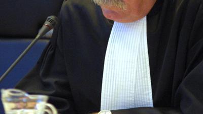 Foto van rechter in rechtbank | Archief EHF