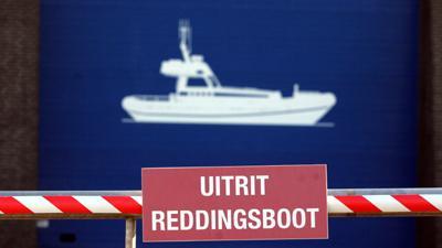 Foto van reddingsboot hangar | Archief EHF