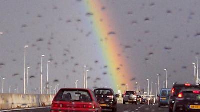Regenboog-zebrapad voor hoofdkwartier Verenigde Naties