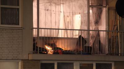 brand op balkon