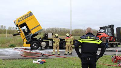 Brand in vrachtwagen