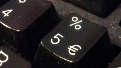 euro-teken-rente-toetsenbord