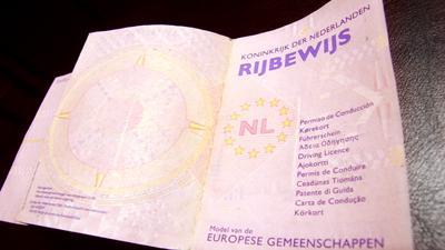 Foto van rijbewijs | Archief EHF