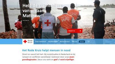 Rode Kruis opent giro 5125 voor slachtoffers orkaan Matthew