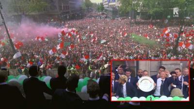 Huldiging Feyenoord begonnen