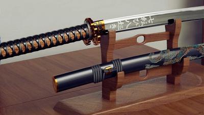 samurai, zwaard,